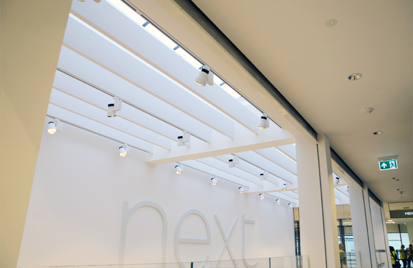 Coopers Fire Smoke Curtains at Next Retail Store