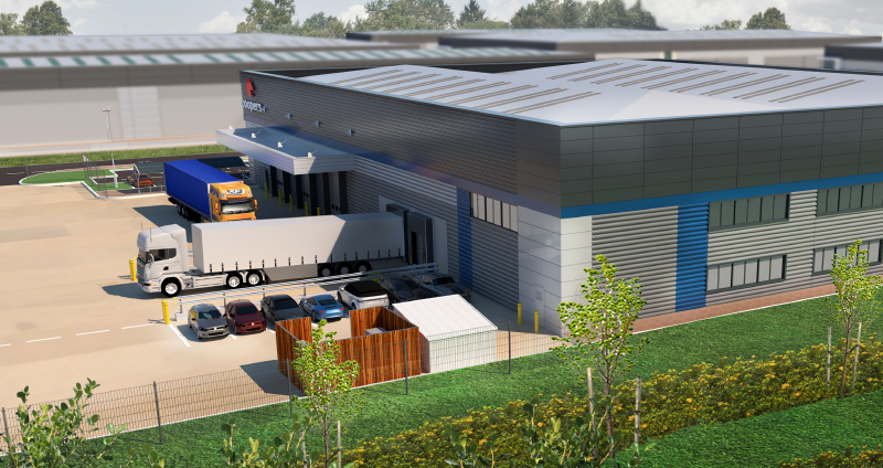 Coopers Fire New HQ architectural drawing