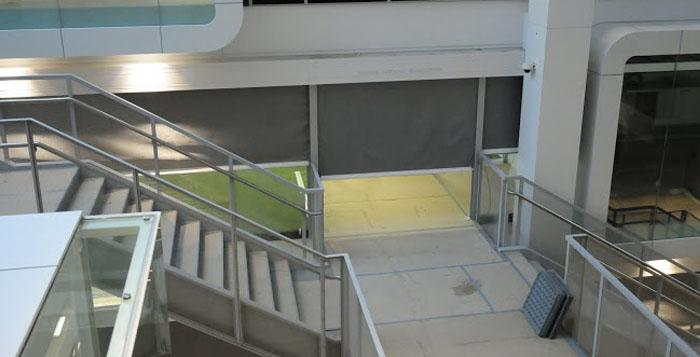 Coopers Fire FireMaster Fire Curtain Barrier protecting means of escape