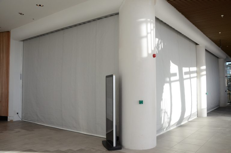 FireMaster Fire curtain at Westquay Southampton