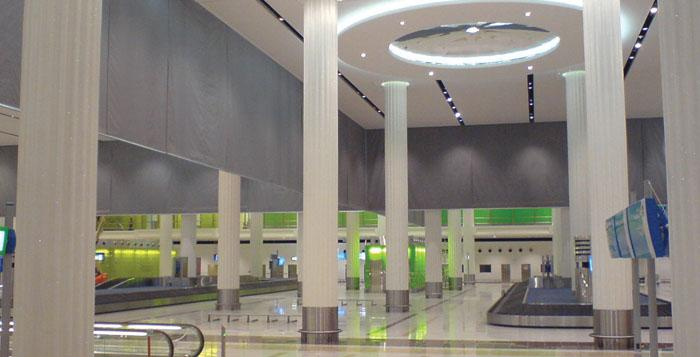 Fire and smoke curtains for airports