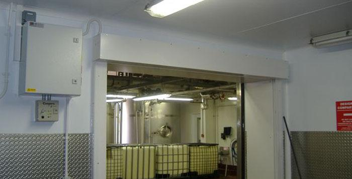 Coopers Fire Fire Curtain at a Dairy Factory