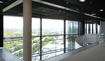Coopers Fire FireMaster Concertina Fire Curtain protecting offices in Germany from spread of fire