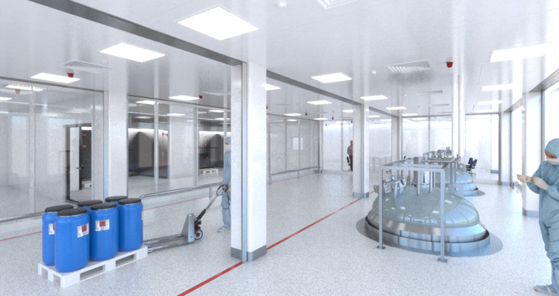 The new and revolutionary FireMaster® Cleanroom fire curtain