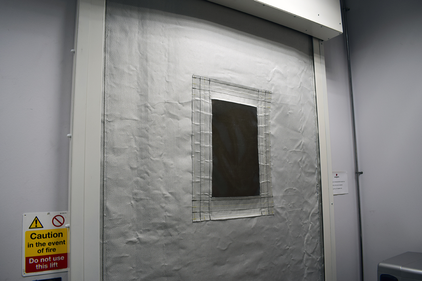 FireMaster Fire Curtain with ResQ-Window Vision Panel