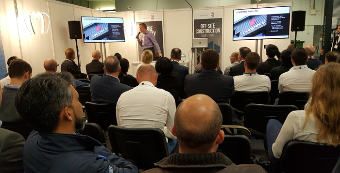 Coopers Fire giving a CPD on fire curtain barriers at London Build 2019