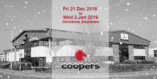 Coopers Fire Christmas Shutdown 2018-2019