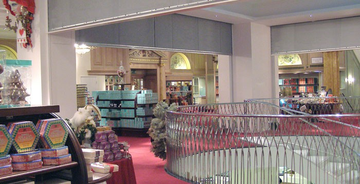 FireMaster fire curtains at Fortnum and Mason