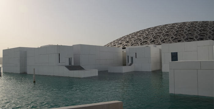 Outside the Louvre Abu Dhabi