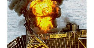 Piper Alpha oil rig fire