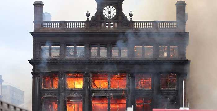 Primark in Belfast on fire