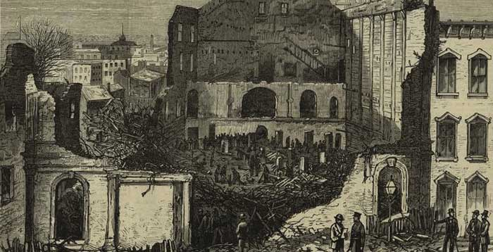 Aftermath of The Brooklyn Theatre Fire