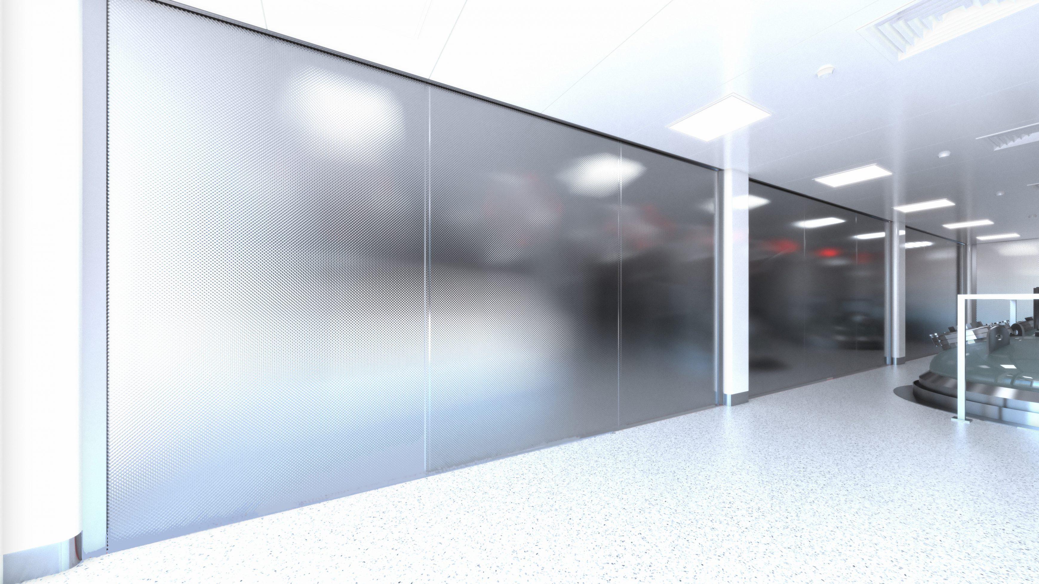 Cleanroom fire curtain