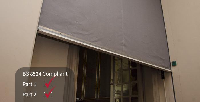 Fire curtain BS 8524
