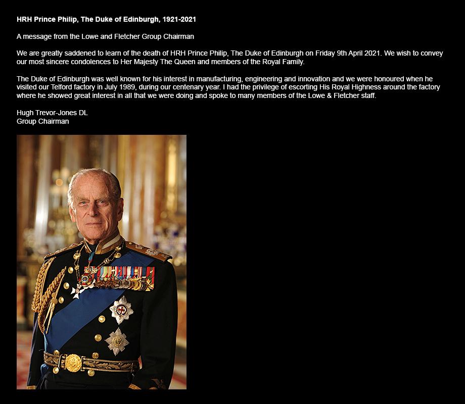 Press Release HRH Prince Phillips Death